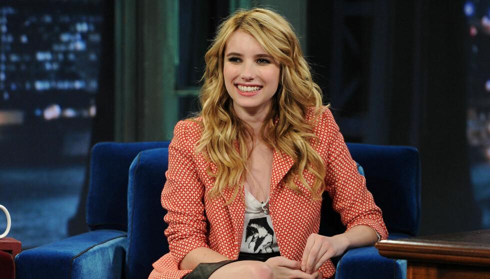STJERNESKUDD: Emma Roberts vasser i filmroller for tiden, og er i ferd med å etablere seg som en stjerne i Hollywood. Foto: All Over Press