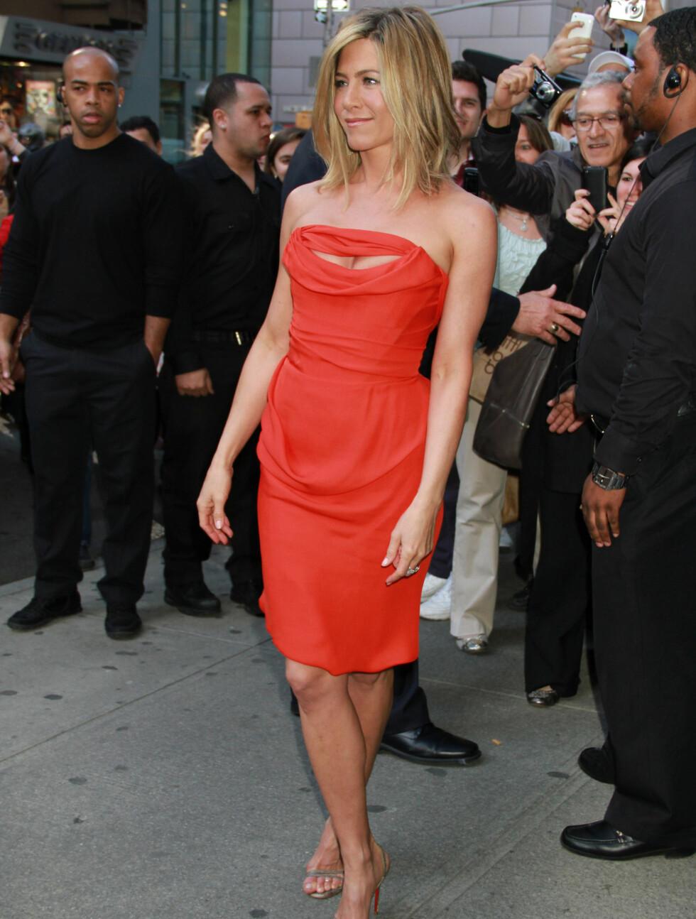 <strong>AVSLØRER:</strong> Jennifer Aniston forteller hvordan hun tar vare på kroppen sin. Foto: Stella Pictures