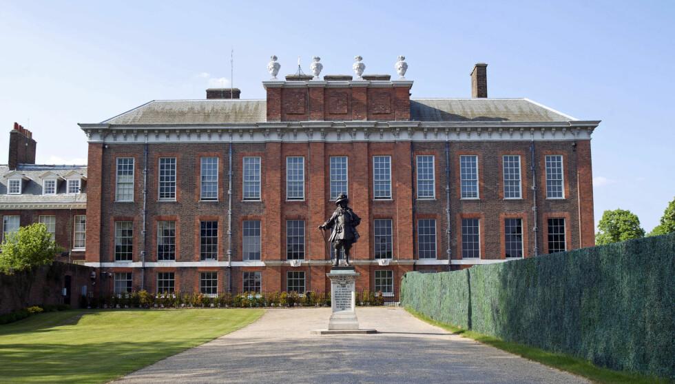 <strong>VIL BO HER:</strong> Prins William har et ønske om å bo i mamma Dianas gamle hjem, Kensington Palace. Foto: Stella Pictures