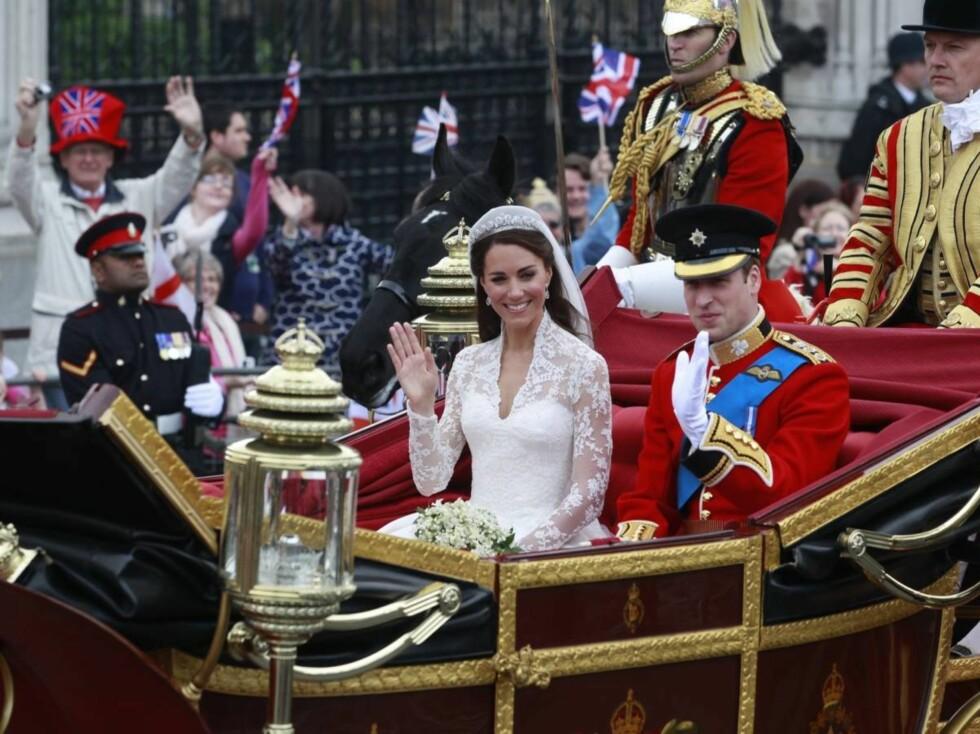 <strong>POMP OG PRAKT:</strong> London viste seg fra sin beste side under det kongelige bryllupet.