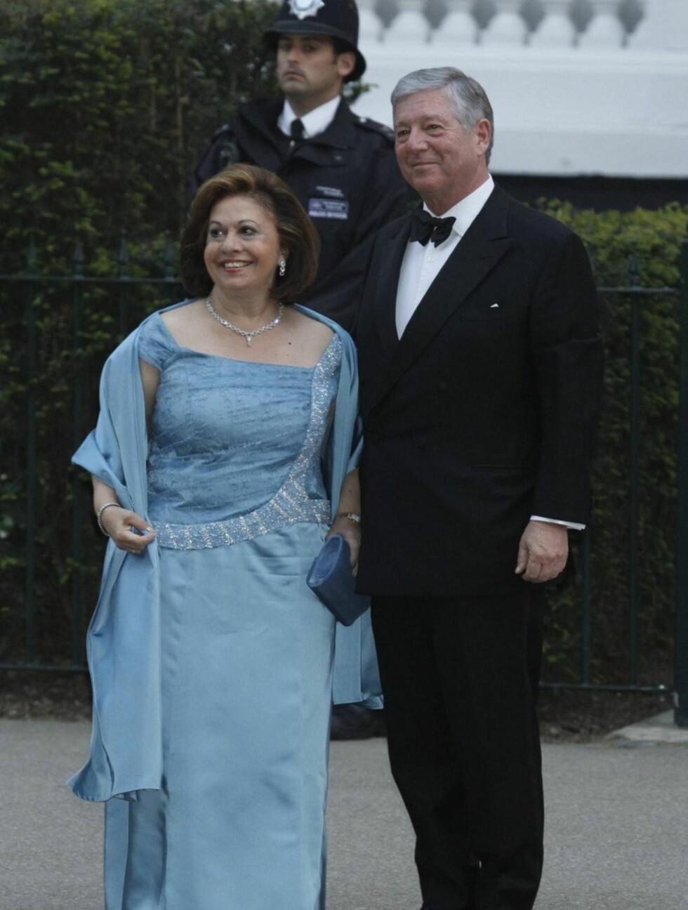 PÅ FEST: Prinsesse Katarina av Serbia med ektemannen. Foto: Stella Pictures