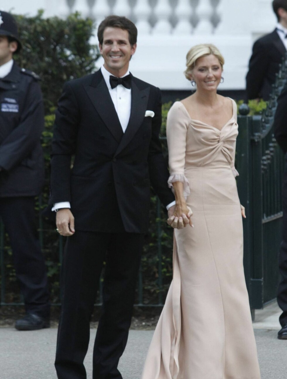 PÅ FEST: Eks-prins Pablo av Hellas og kona Mary Chantall Miller. Foto: Stella Pictures