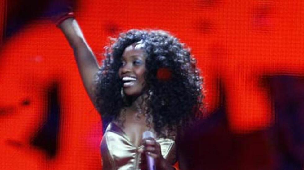 <strong>IKKE I FINALEN:</strong> Stella Mwangi er ikke videre i Eurovision Song Contest 2011. Foto: Reuters