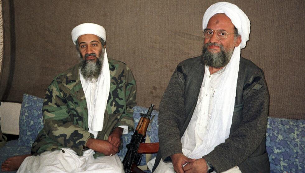 DØD: Osama Bin Laden (til venstre) er død, cirka ti år etter at klappjakten på ham startet fra amerikanernes side. Foto: Reuters