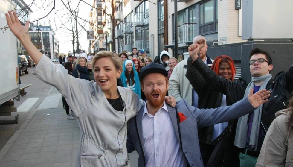 STOR STEMNING: Guri Solberg og Ivar «Ravi» Johansen er programledere når «Idol» gjør comeback. Foto: Sølve Hindhamar, Seher.no