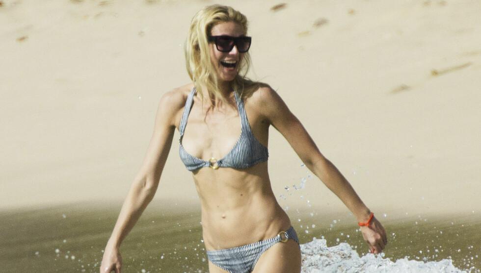 TRENER HVER DAG: Og 38 år gamle Gwyneth Paltrow har en fantastisk kropp. Foto: All Over Press