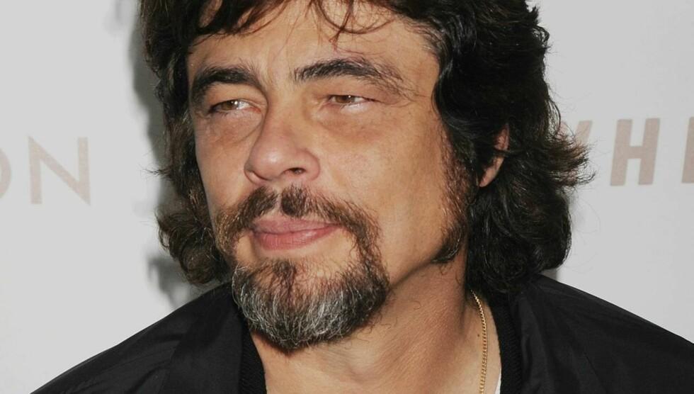 INNRØMMER FARSKAP: Benicio Del Toro innrømmet mandag at han er faren til Kimberly Stewarts kommende barn. Foto: All Over Press