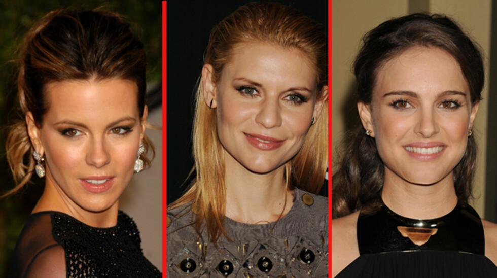 <strong>SMART TRIO:</strong> Både Kate Beckinsale (t.v), Claire Danes og Natalie Portman har alle studert ved prestisjefylte universiteter. «Beauty and brains», sukk... Foto: Stella  Pictures