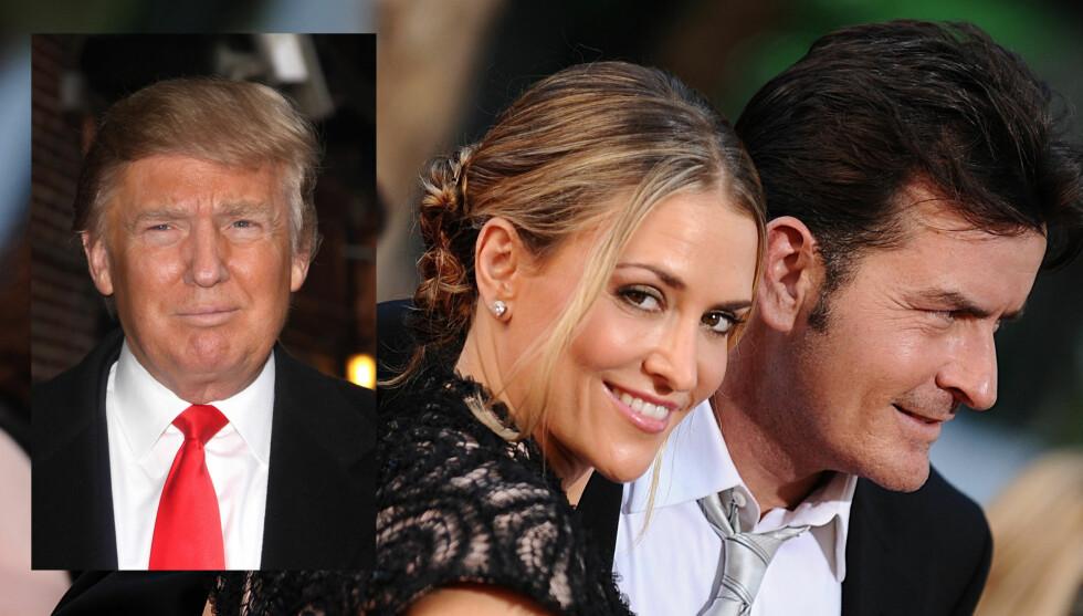 <strong>BEKYMRET:</strong> Allerede før Brooke Mueller og Charlie Sheen giftet seg i 2008, skal Trump ha advart Muellers mor om skandaleskuespilleren.  Foto: Stella Pictures