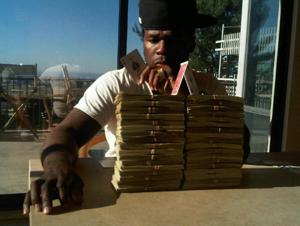 KORTHUS: 50 Cent nyter livet. Foto: Stella Pictures