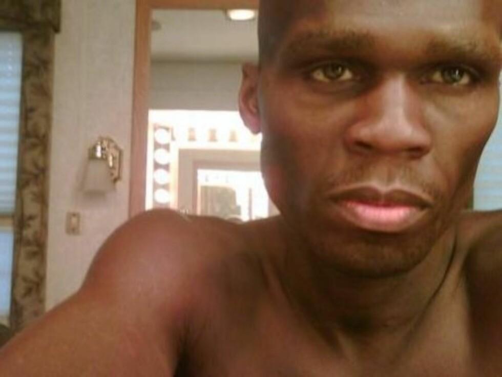 IKKE BEKYMRET: - Jeg kommer tilbake i toppform på null tid, sier den etter hvert meget tynne rapstjernen 50 Cent. Foto: Thisis50.com