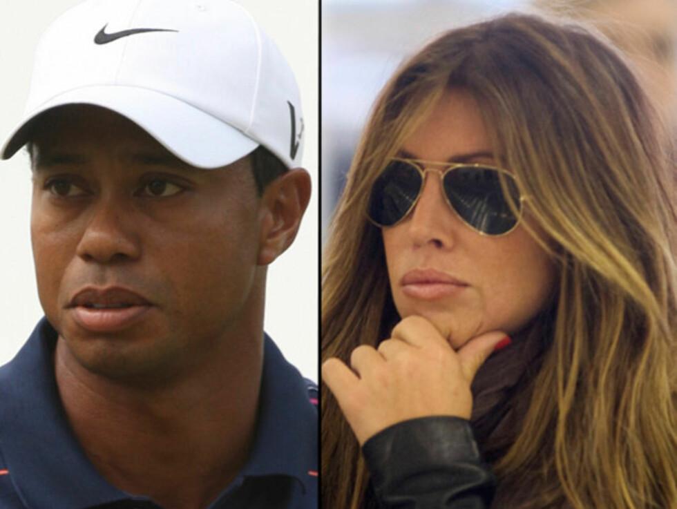 AVSLØRT: Det skal ha vært en tekstmelding som fikk Elin Nordegren til å avsløre forholdet mellom Tiger Woods og Rachel Uchitel. Foto: All Over Press