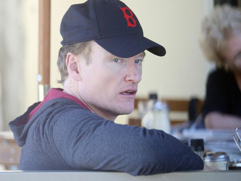 """RASENDE: Conan O' Brien tok i juni over det populære talkshowet """"The Tonight Show"""" etter legenden Jay Leno. Men nå kan det se ut som Leno tar showet tilbake. Foto: Stella Pictures"""
