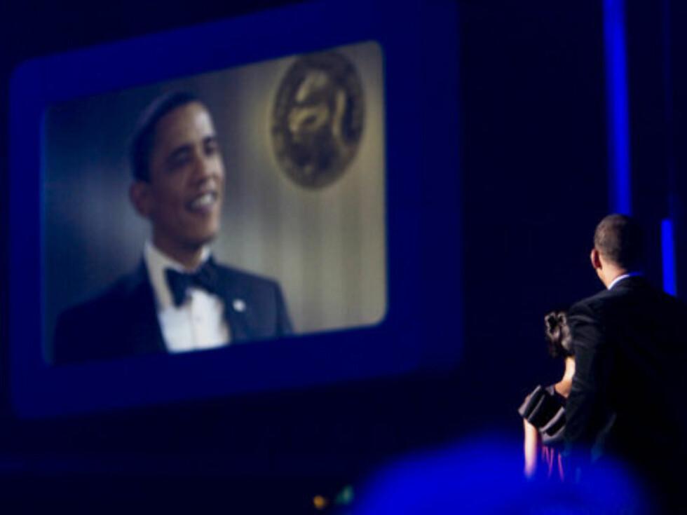 BLE HYLLET: Nobelprisvinner Barack Obama. Foto: Per Ervland/Seher.no