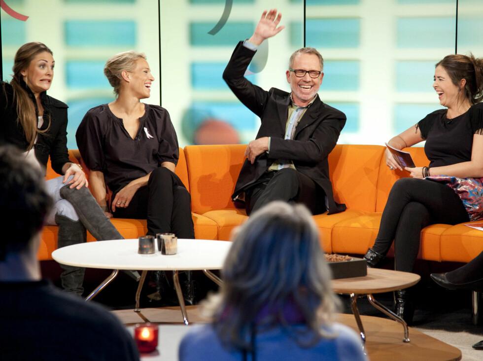 PÅ DAMEBESØK: Onsdag besøker Ivar Dyrhaug ,sammen med den svenske toppmodellen Emma Wiklund, jentene i Studio 5. Foto: FEM/Roy Darvik