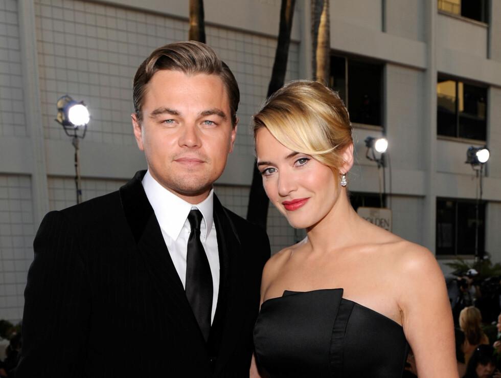 BESTEVENNER: Kate Winslet bærer ringen fra sin gode skuespillervenn sammen meg gifteringen fra ektemannen... Foto: All Over Press