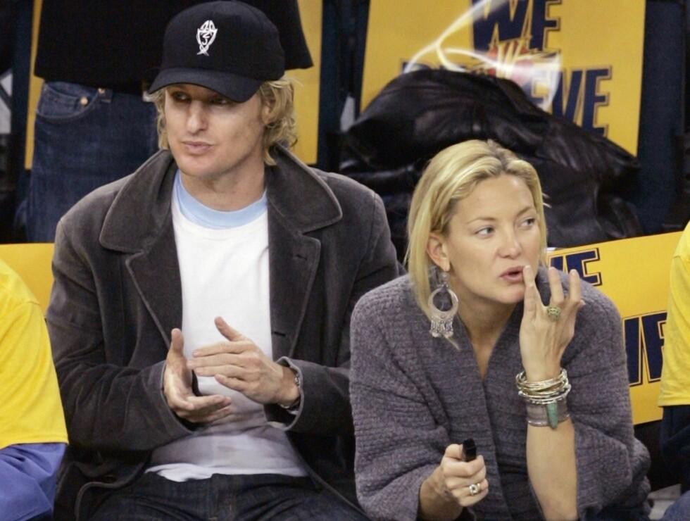 GIFTEKLARE: Kate Hudson og Owen Wilson skal ifølge ryktene gifte seg i juni. Foto: AP