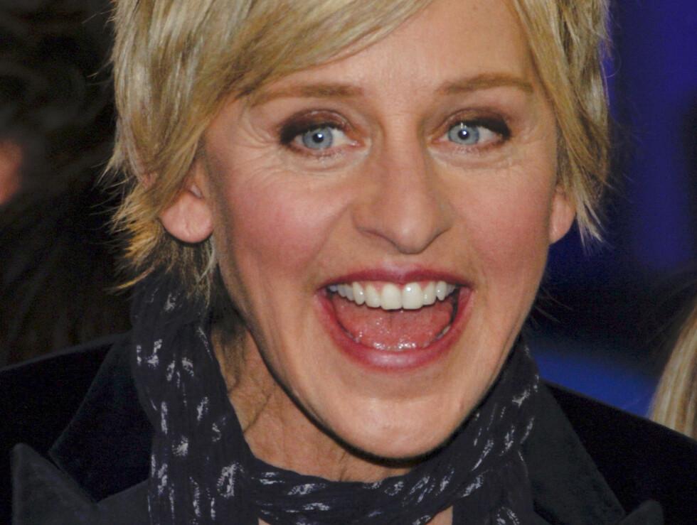 INGEN BRANN UTEN ILD: Komikeren Ellen Degeneres avkrefte at studioet hennes har stått i brann.  Foto: All Over Press