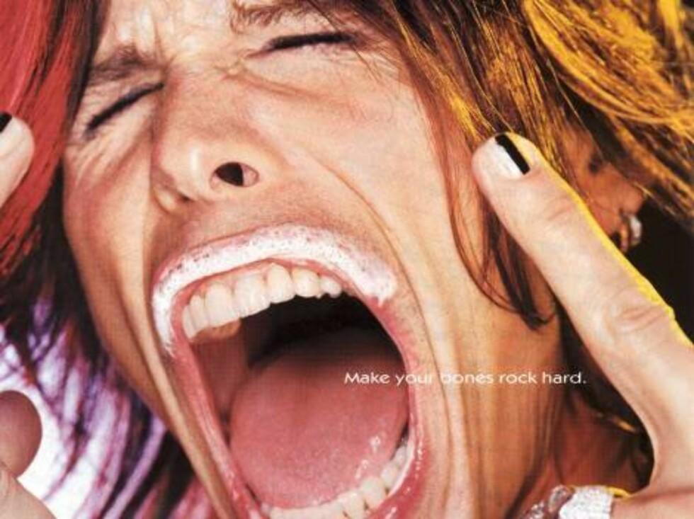 """Rockestjernen i """"Aerosmith"""", Steven Tyler. Foto: AP/Scanpix"""