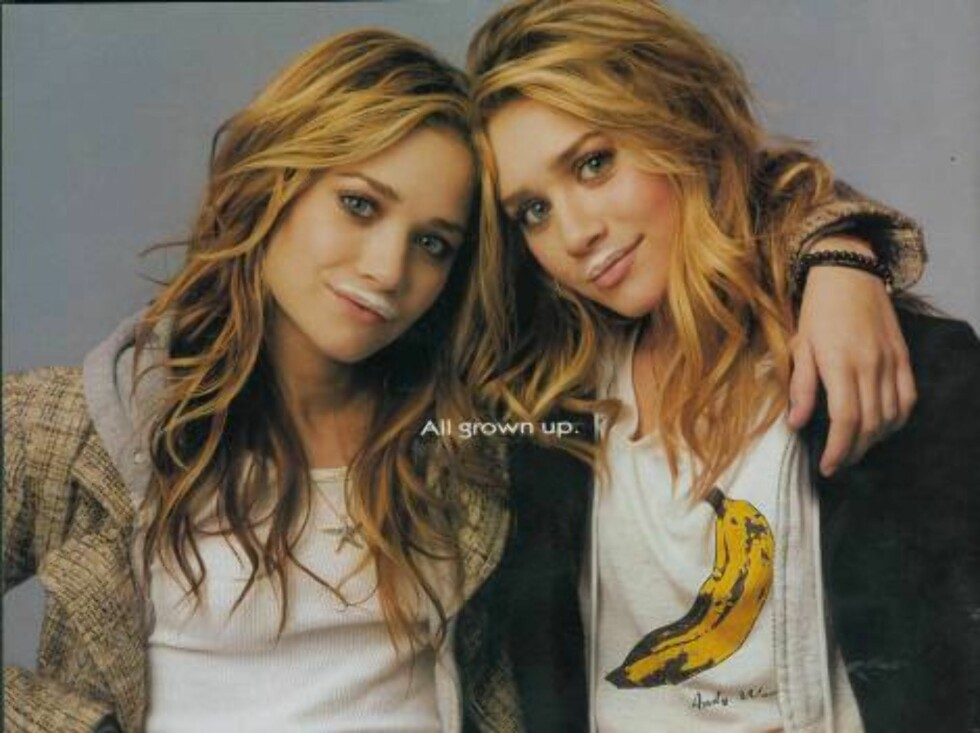 Code: SPLA-MFNY 050504 A, USA, 05.05.2004: The Olsen twins - Ashley and Mary-Kate - appear in a got Milk advert, they have joined the ranks of many other celebrities, who have done these ads over the years. (Splash News and Picture Agency does not claim a Foto: All Over Press