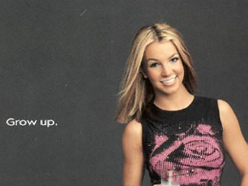 En ung versjon av popstjernen Britney Spears.