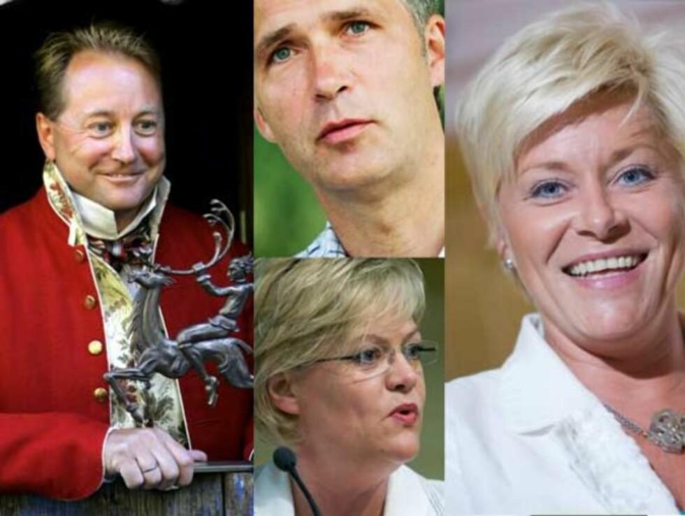TI PÅ TOPP: Disse kjente maktmenneskene var ikke uventet å finne på listen over Norges mektigste personer. Foto: Scanpix