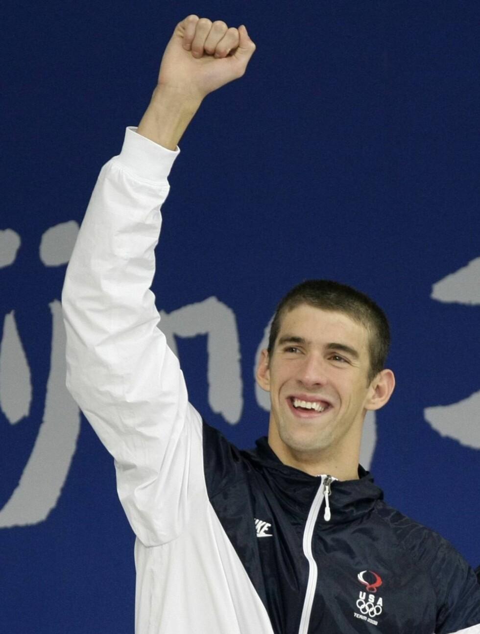 14 GULL: I løpet av to OL har Michael Phelps vunnet hele 14 gull. Foto: AP