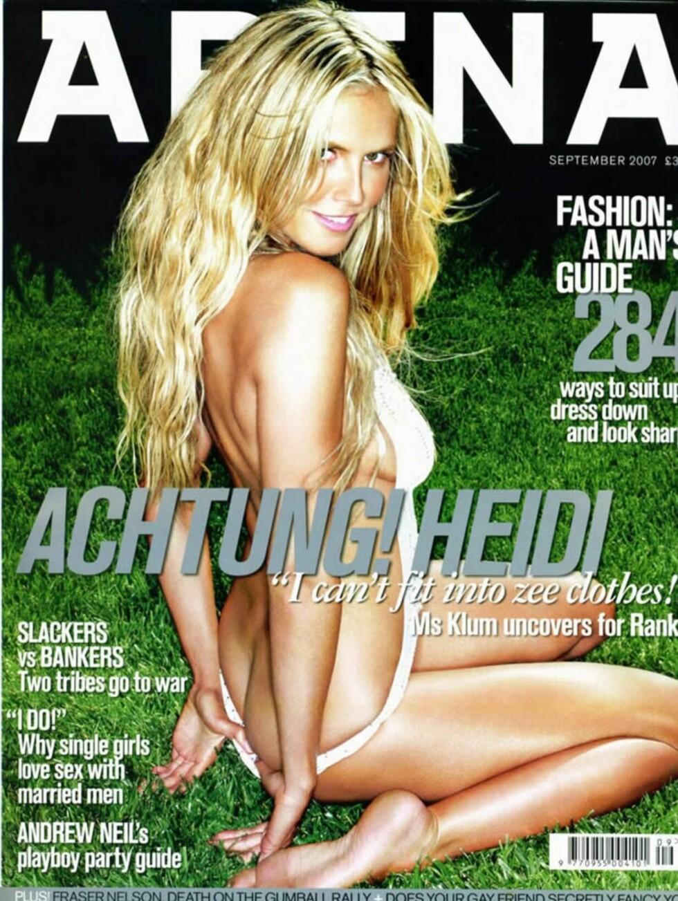 ACHTUNG: Klum er tysk, og er for mange amerikanere stereotypen på den tyske, blonde og smånaive jenta. Foto: Arena