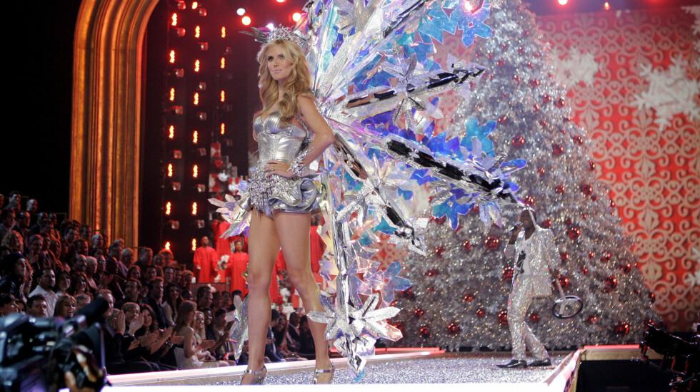GULL VERDT: Heidi Klums bein er forsikret for 11 millioner kroner. Men det ene beinet er mer verdt enn det andre... Foto: AP