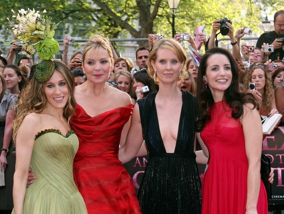 Sarah Jessica Parker, Kim Catrall, Cynthia Nixon og Kristin Davis er fire år eldre siden de spilte inn sin siste episode i Sex og Singelliv, men stadig flottere. Foto: All Over Press
