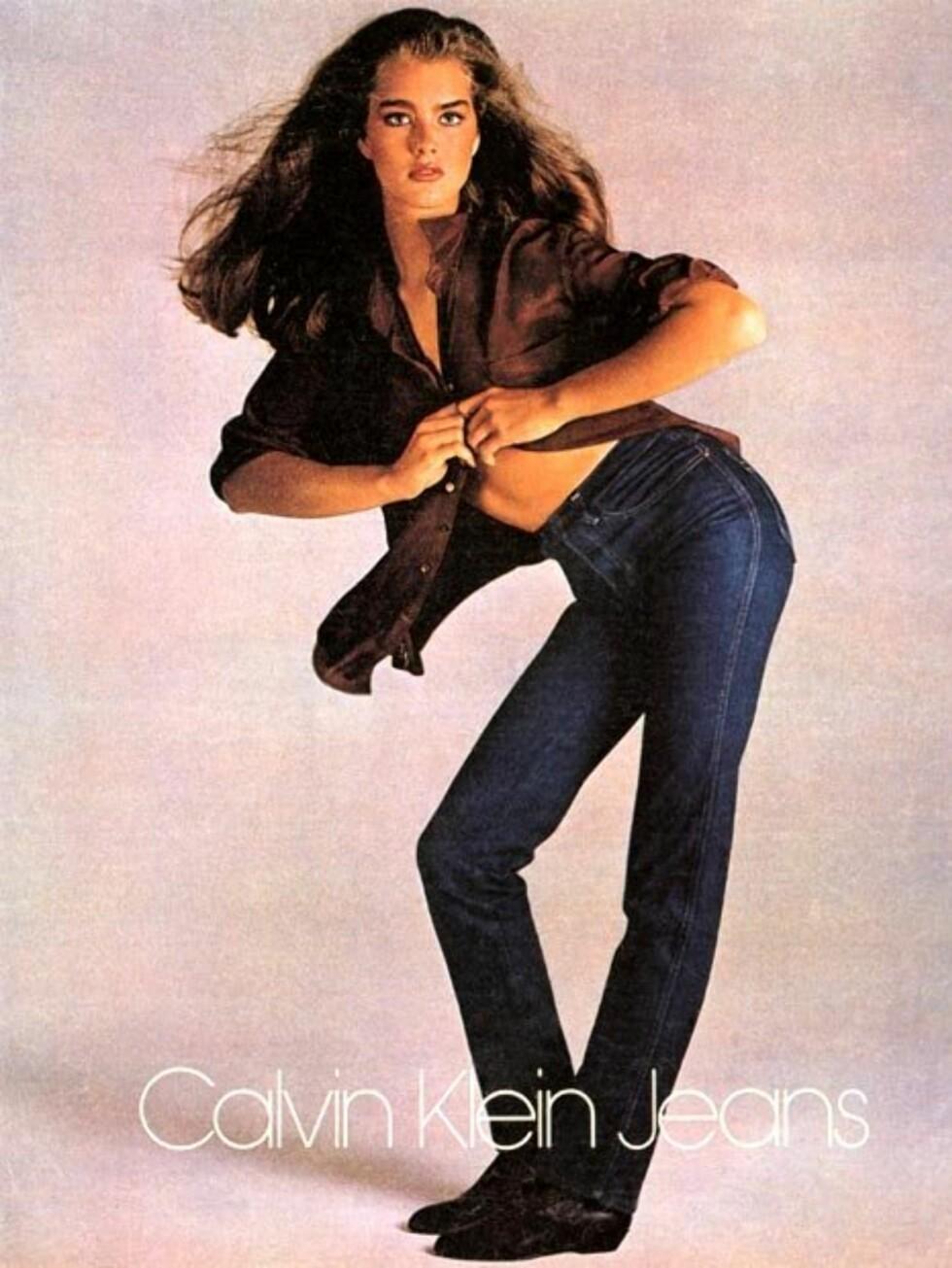 SJOKKERTE: Brooke Shields var bare 15 år gammel da dette bildet ble tatt. Foto: Faksimile