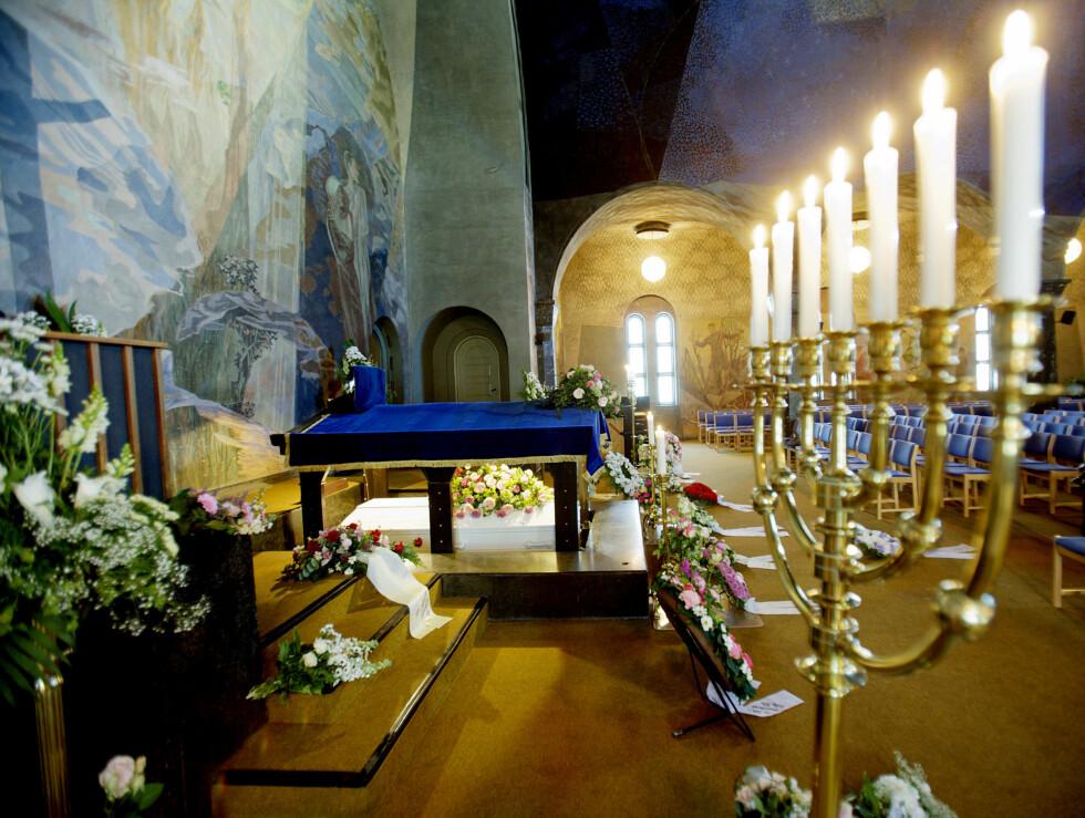 Julie Ege ble bisatt i et vakkert krematorie. Foto: SCANPIX