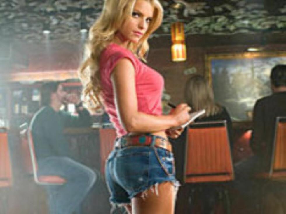 """- VERDIG: Jessica Simpson la å hardtrening før innspillingen av """"Dukes Of Hazzard"""". Derfor havnet hun på fjerdeplass i denne kåringen. Foto: Filmweb"""