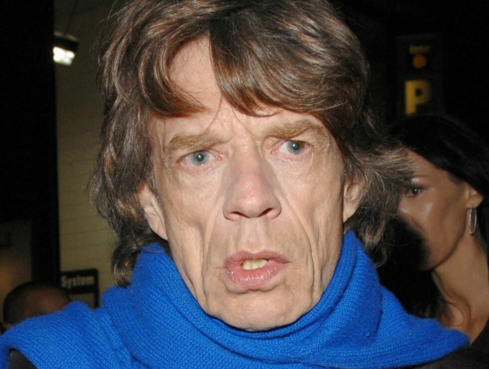 KUNNE BLITT DREPT: Mick Jagger kunne blitt drept i 1969 - men ble reddet av at Hells Angels-medlemmene fikk problemer med været. Foto: All Over Press