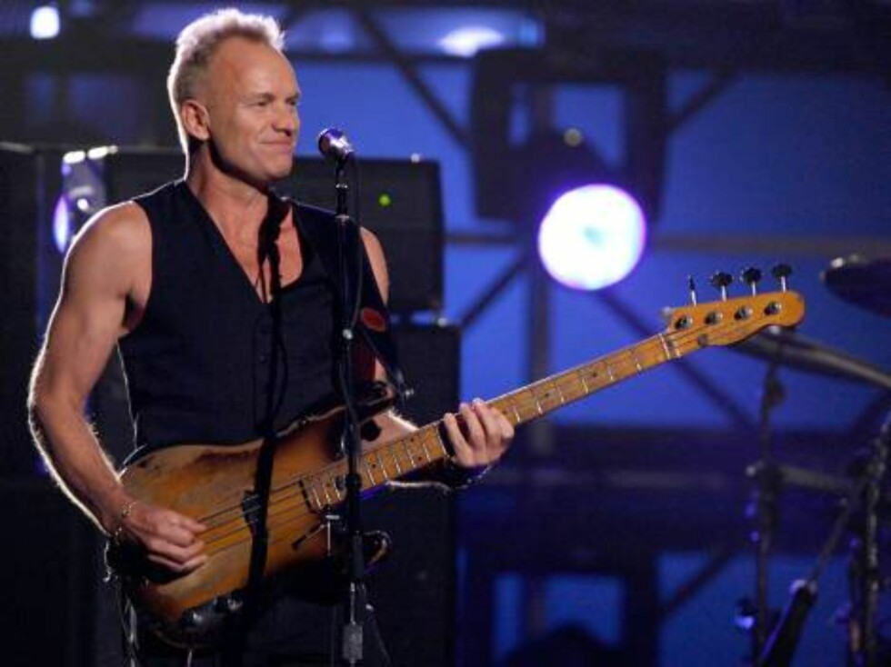 """LOS ANGELES, CA - FEBRUARY 11:  Musician Sting performs """"Roxanne"""" onstage with the band The Police opening the 49th Annual Grammy Awards at the Staples Center on February 11, 2007 in Los Angeles, California.  (Photo by Kevin Winter/Getty Images) *** Local Foto: All Over Press"""