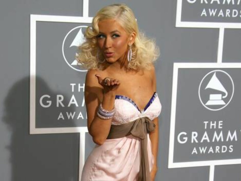 LOS ANGELES, CA - FEBRUARY 11: Singer Christina Aguilera arrives at the 49th Annual Grammy Awards at the Staples Center on February 11, 2007 in Los Angeles, California.  (Photo by Frazer Harrison/Getty Images) *** Local Caption *** Christina Aguilera Foto: All Over Press