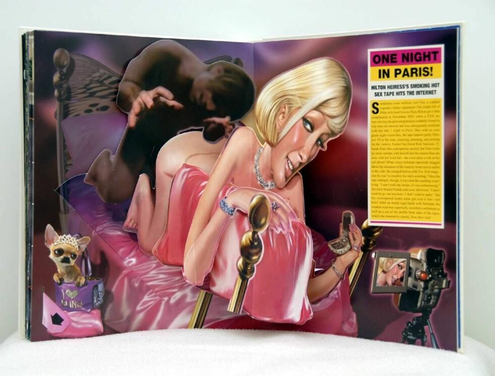 """BAKVEIEN: Paris Hilton ble først superstjerne da sexvideoen """"One Night In Paris"""" kom ut. Enkelte mener hun entret stjernehimmelen gjennom bakdøra... Foto: WENN"""
