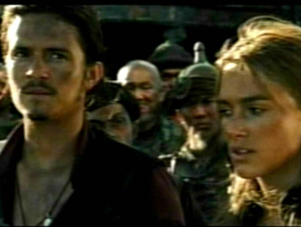 """VERDENS ENDE: Pirates-trilogien avsluttes med filmen """"Pirates Of The Carribian - At Worlds End"""" Foto: All Over Press"""