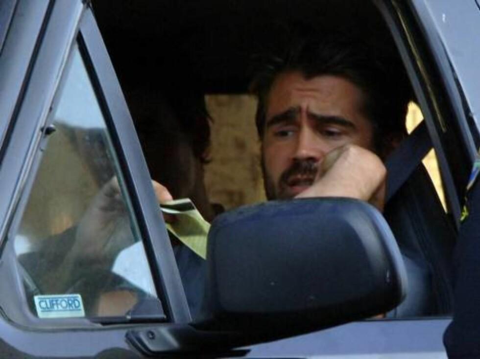 FREKK FILM: Skuespilleren Colin Farrell har gått med på at en video han spilte inn med Playmaten Nicole Narain eksisterer. I januar 2006 havnet den på nett, til Colins store irritasjon... Foto: All Over Press