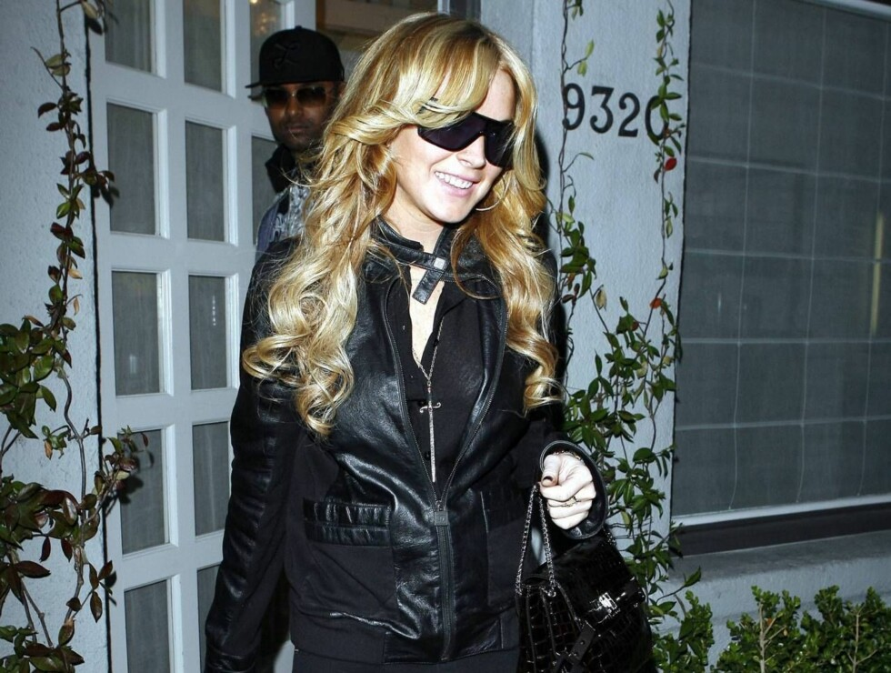 MARIAH, ER DET DEG?: Neida, dette er ingen ringere enn Lindsay Lohan. Foto: All Over Press