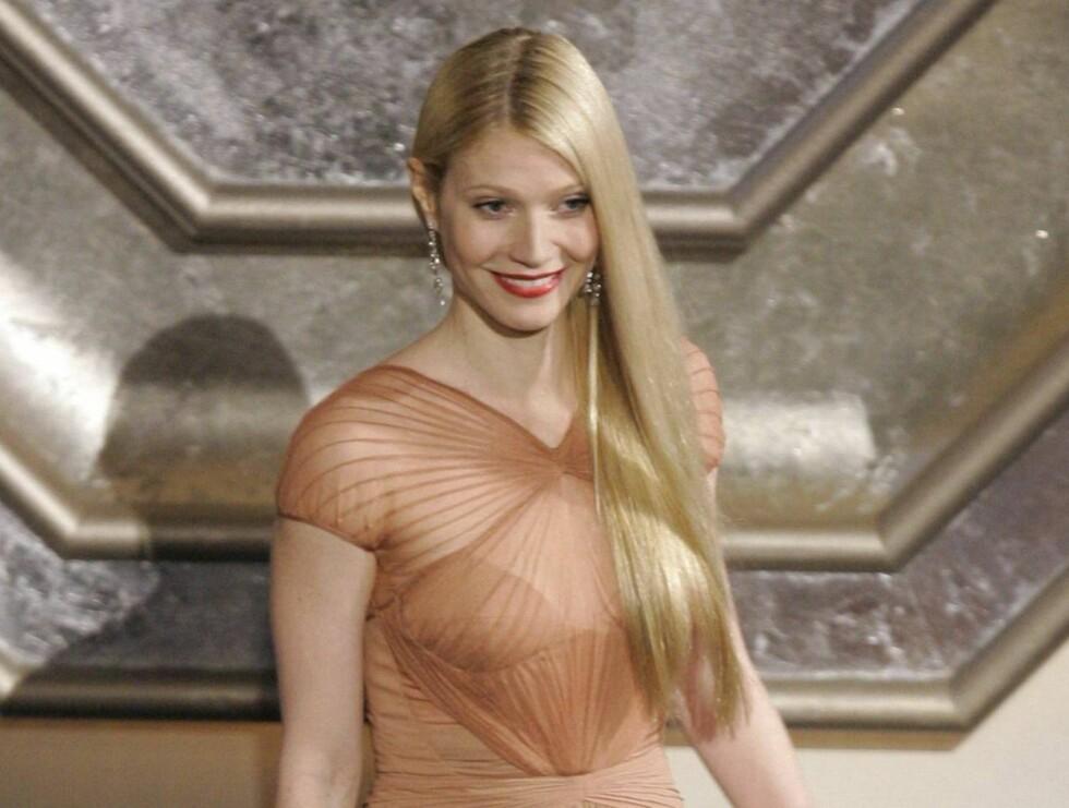 FLOTT: Det er mange av oss som misunner det flotte håret til Gwyneth Paltrow. Men har hun den flotteste sveisen i Hollywood? Foto: AP/Scanpix