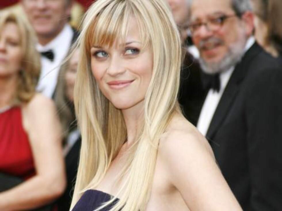 FLOTT?: Reese Witherspoons blonde manke vakte oppsikt under årets Oscar-show. Foto: AP/Scanpix