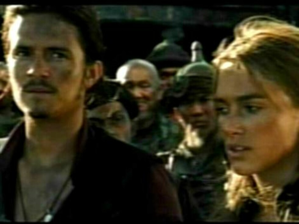 First glimpse at the third 'Pirates of the Caribbean' movie.  A new trailer for 'Pirates of the Caribbean: Edge of the World' was premiered last night on US TV.  Pictured:  Keira Knightley and Orlando Bloom   Ref: FVG JWLA 190307 B   Splas Foto: All Over Press