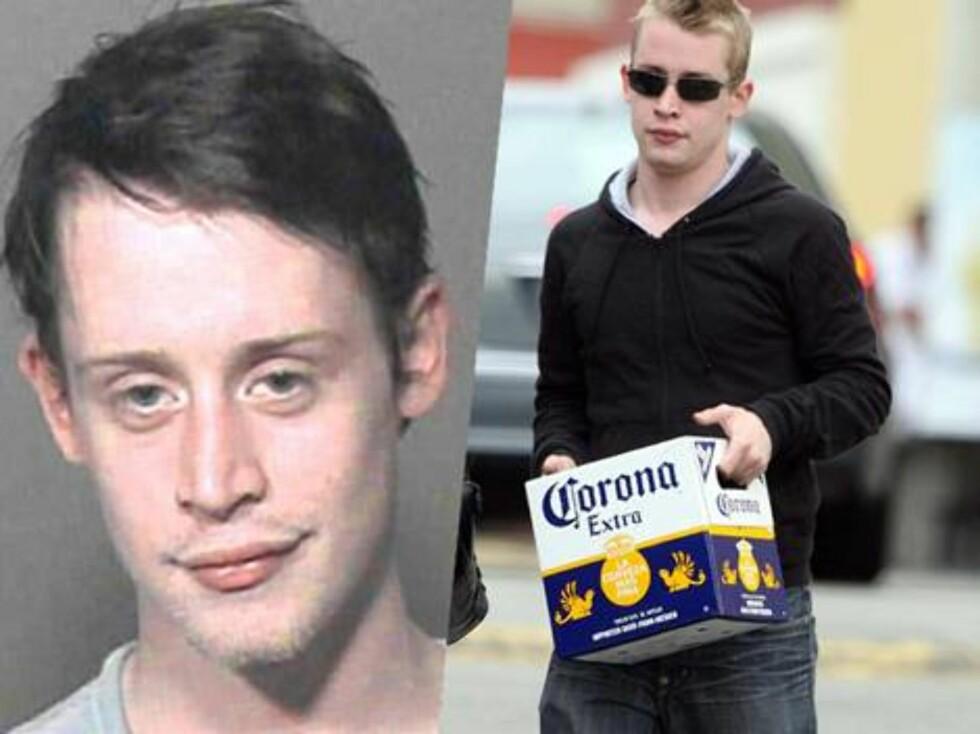 """SKANDALE: Barnestjernen Macaulay Culkin tok verden med storm i """"Hjemme Alene""""-filmene, men etter mange år med dop- og alkoholproblemer, ble han i 2004 arrestert for besittelse av narkotika... Foto: All Over Press"""