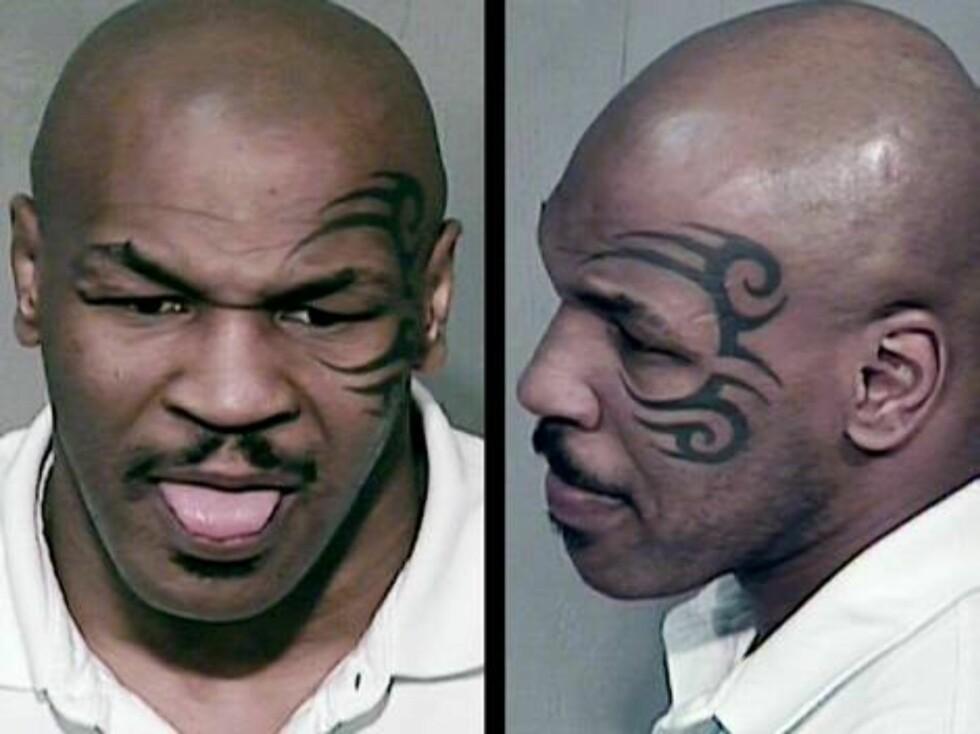 SKANDALE: Det har gått trått for superbokseren Mike Tyson de siste årene. Den en gang så respekterte Tyson ble i desember arrestert etter mistanke om fyllekjøring og besittelse av narkotika! Foto: All Over Press