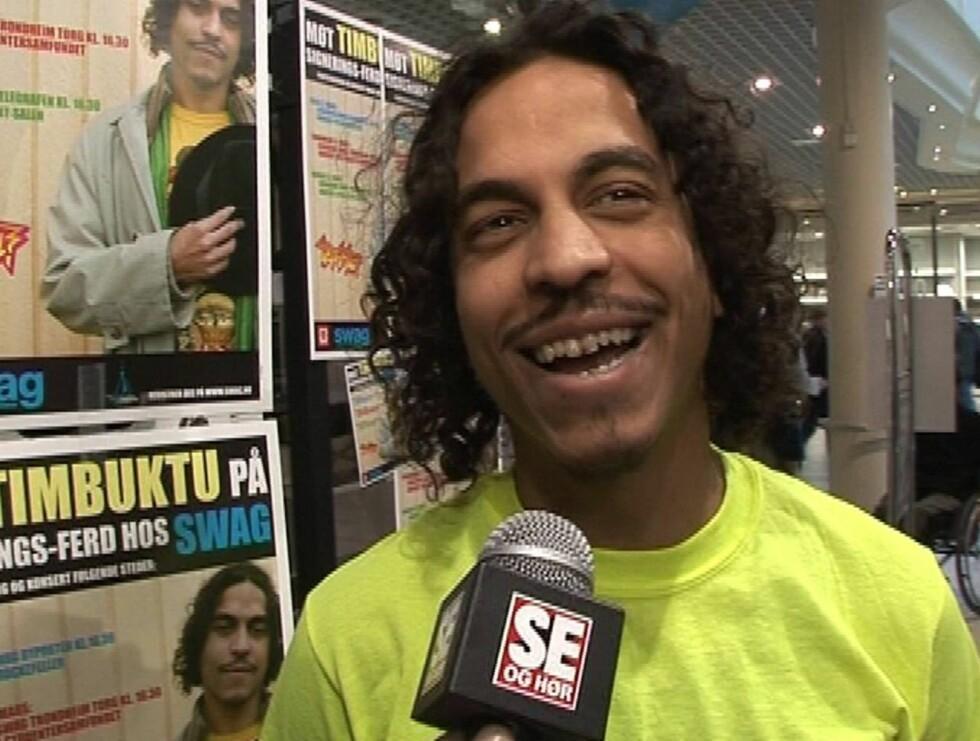 HALÅ: Timbuktu har vært kjent i Sverige siden midten av 90-tallet. Fire album senere er han også et kjent navn i Norge. Foto: Seher TV