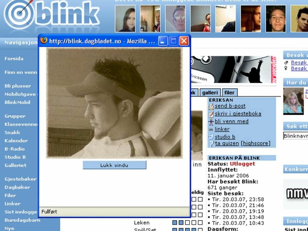 KJEKK: Sandras kjære Erik er en kjekk gutt, og ifølge blondinen er han svært omsorgsfull. Foto: Blink.no