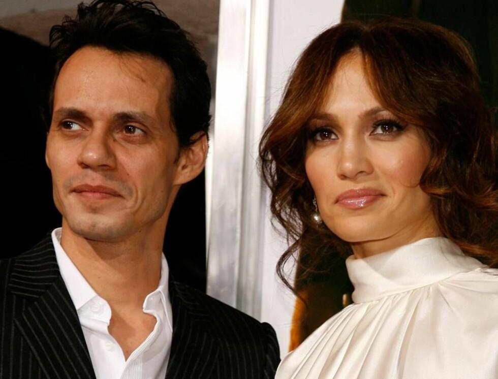STORT IDOL: Marc Anthony forguder sin vakre kone Jennifer Lopez. Du skal ikke se bort i fra at han blir å finne i salen når hun opptrer på Idol. Foto: All Over Press