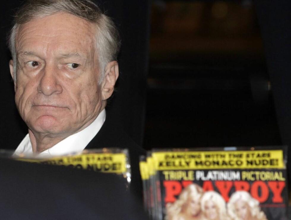 SJEF: Hugh produserte den aller første utgaven av Playboy på kjøkkenbordet. Med selveste Marilyn Monroe som midtsidepike, ble hele opplaget utsolgt på kort tid. Foto: AP/Scanpix