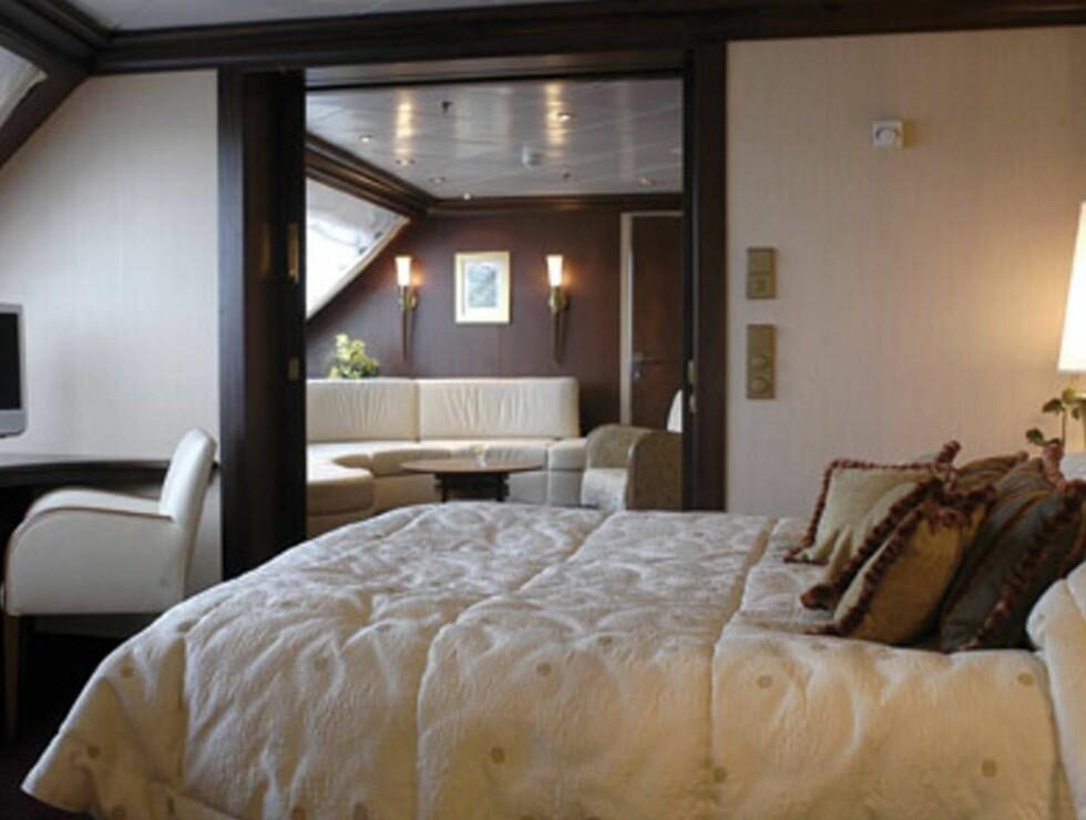 VINN VINN VINN: I denne luksuriøse rederlugaren kan du og din kjære boltre dere på luksuscruise! Foto: color line
